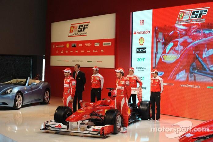 Presentación de la Ferrari F10 de 2010