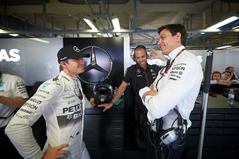 Nico Rosberg, Toto Wolff 2015