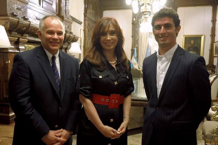 USF1's Peter Windsor and Lopez meet former Argentine president Cristina Fernandez de Kirchner