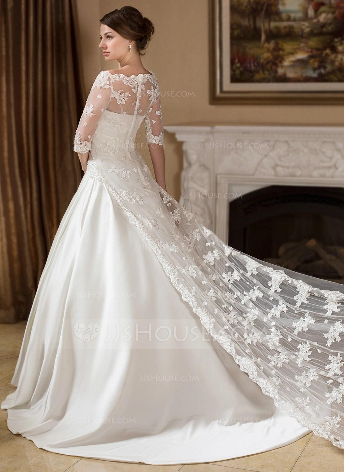 Half Sleeve Lace Wedding Wrap 013024557 Wraps JJsHouse