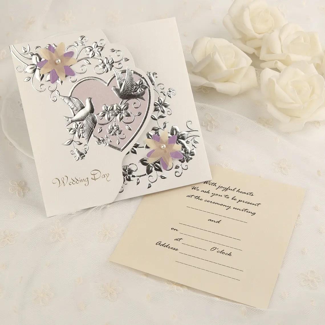 Classic Style Tri Fold Invitation Cards Set Of 50 114091460 Wedding Invitations JJs House