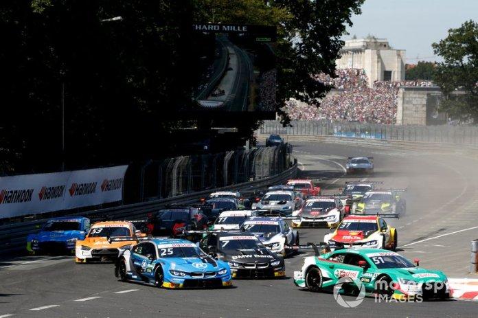 Start action, Nico Müller, Audi Sport Team Abt Sportsline, Audi RS 5 DTM leads
