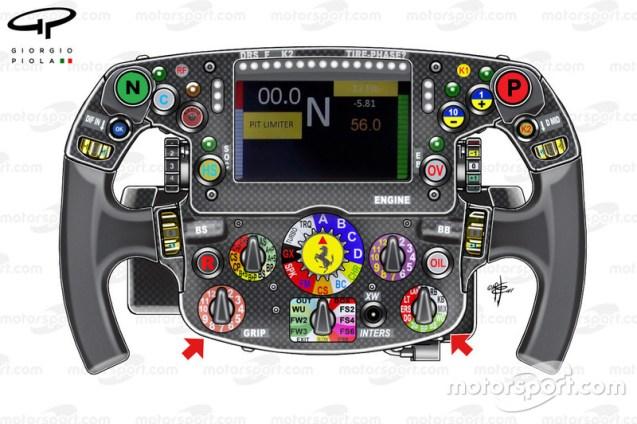 Ferrari SF70H, volante