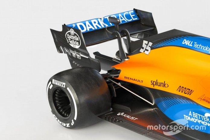 McLaren MCL35, dettaglio della sospensione posteriore