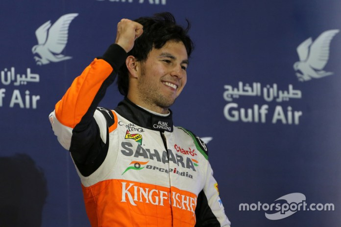 Podium: third place Sergio Perez, Force India