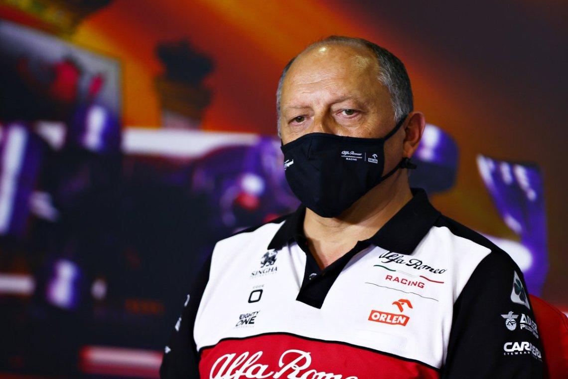 Frederic Vasseur, Team Principal, Alfa Romeo Racing, in the team principals Press Conference