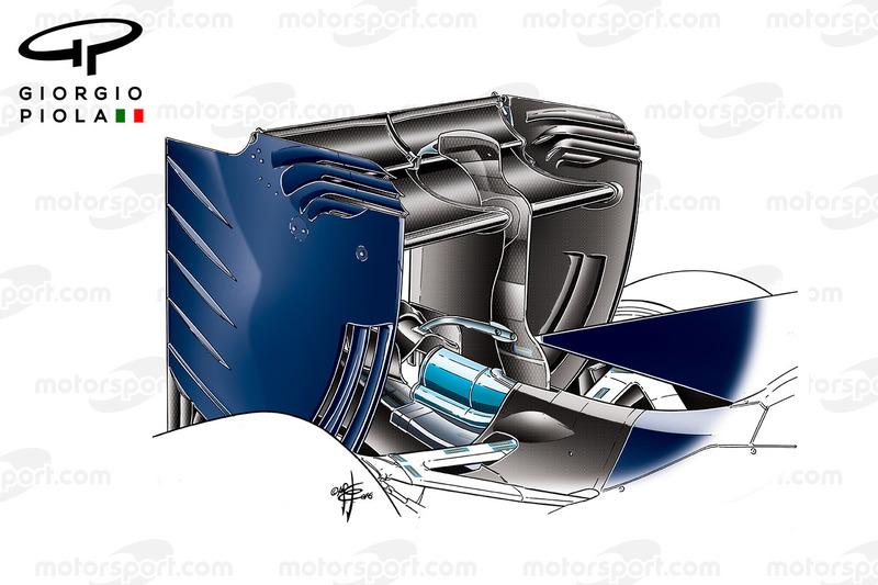 Toro Rosso STR11, ala posteriore, test invernali di Barcellona