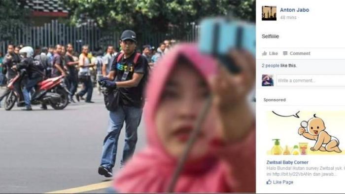 Heboh, Hanya di Indonesia Seorang Ibu Bisa Selfie di Depan Mata Teroris Bersenjata