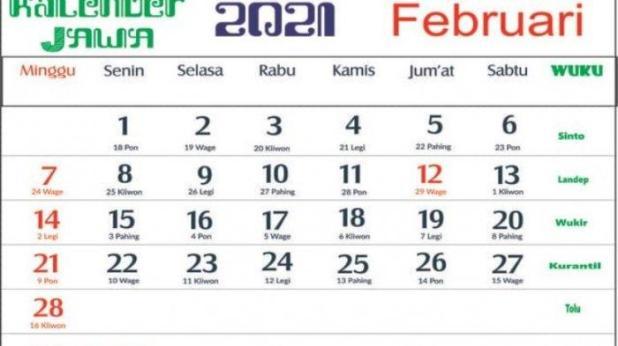Download Kalender Nasional Dan Jawa 2021 - Kalender 2020 ...