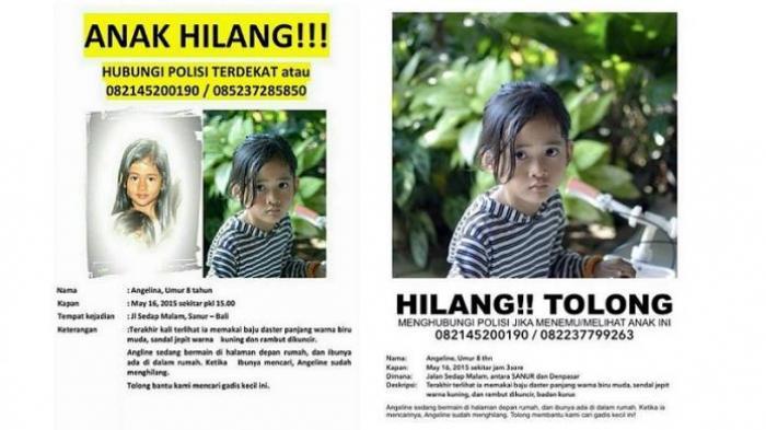 Foto-foto si Cantik Angeline yang Hilang Lalu Ditemukan Tewas di Belakang Rumah