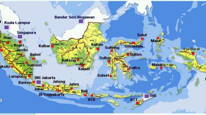 Detail dan dimensi gambar untuk gambar peta indonesia lengkap 34 provinsi sejarah seni indonesia peta. Daftar 8 Provinsi Pertama Indonesia Yang Dibentuk Saat Sidang Ppki Tribunnews Com Mobile