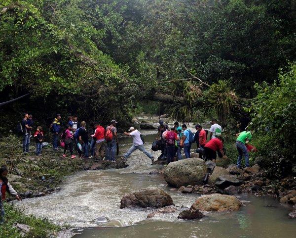 Se trata de cerca de 4,000 hondureños que salieron en caravana el 13 de octubre de la ciudad de San Pedro Sula, en el norte de Honduras.