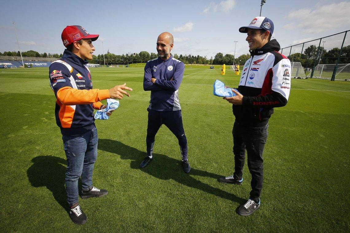 Marc Marquez, Repsol Honda Team, Alex Marquez, Team LCR Honda, Manchester City manager Pep Guardiola