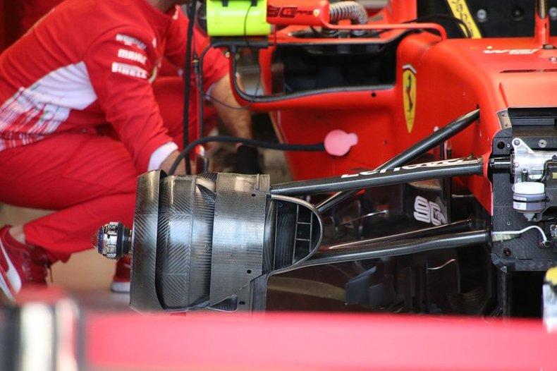 Ferrari SF90 front suspension detail