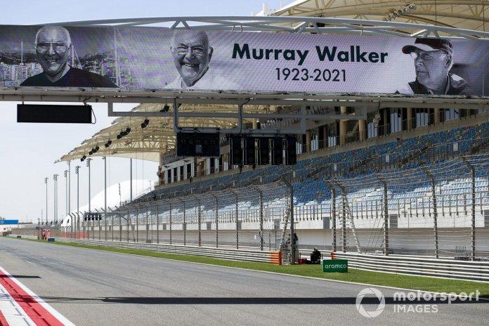 Pankarta e homazheve Murray Walker