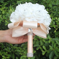 Silk Wedding Flowers   Wedding Bouquets   JJ sHouse Round Satin Bridal Bouquets  Sold in a single piece