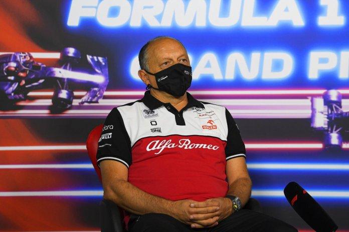 Frederic Vasseur, Drejtori i Ekipit, Alfa Romeo Racing, në Konferencën për shtyp të Drejtorëve të Ekipit