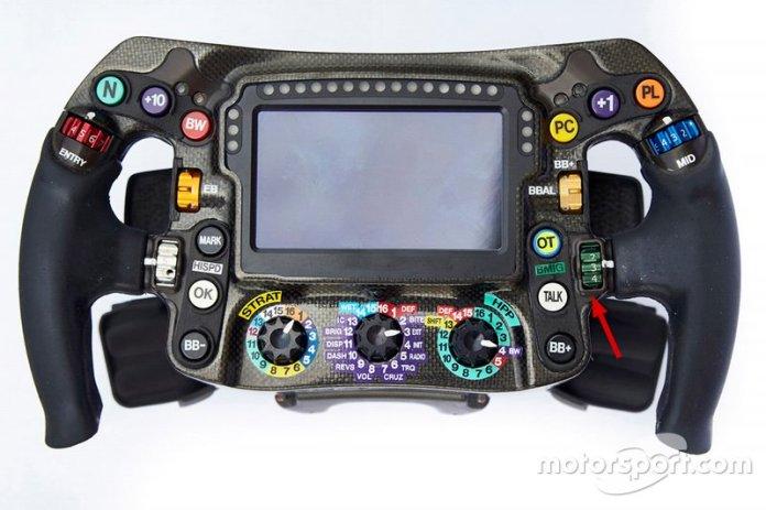 Mercedes AMG F1 W09 steering