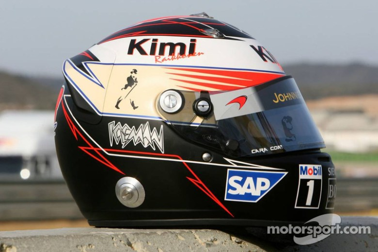 Helmet of Kimi Raikkonen at Valencia winter testing