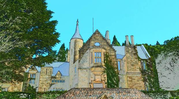 Special effects mode - photo illustration - showing a building that looks like a castle