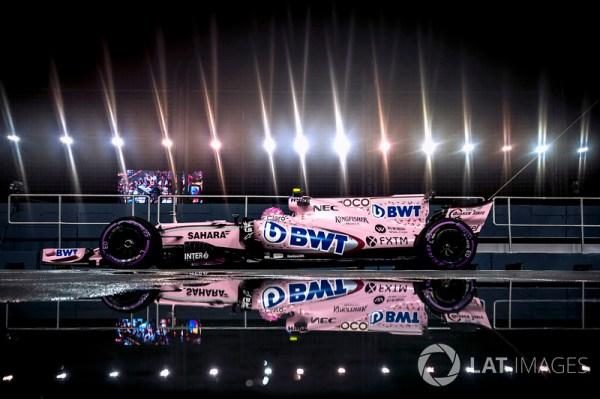 Esteban Ocon, Sahara Force India F1 VJM10 at Singapore GP