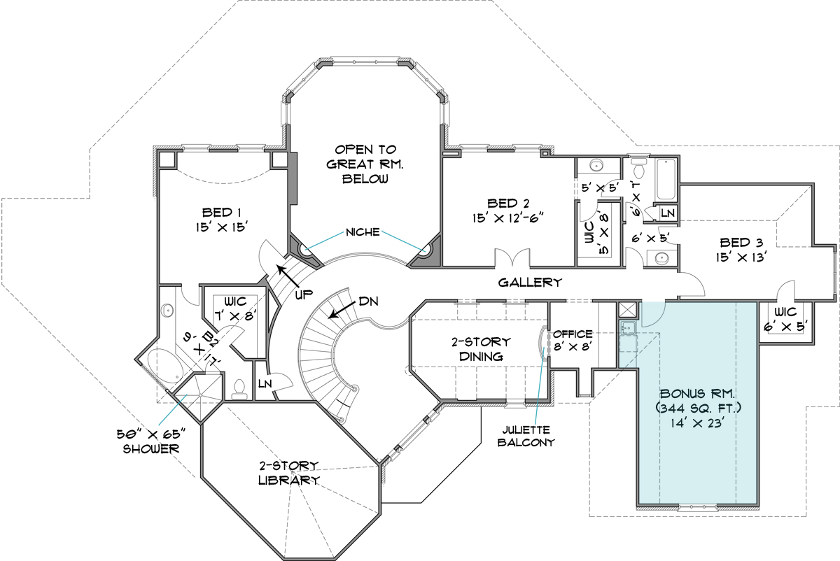 Colonial House Plan With 4 Bedrooms And 3.5 Baths