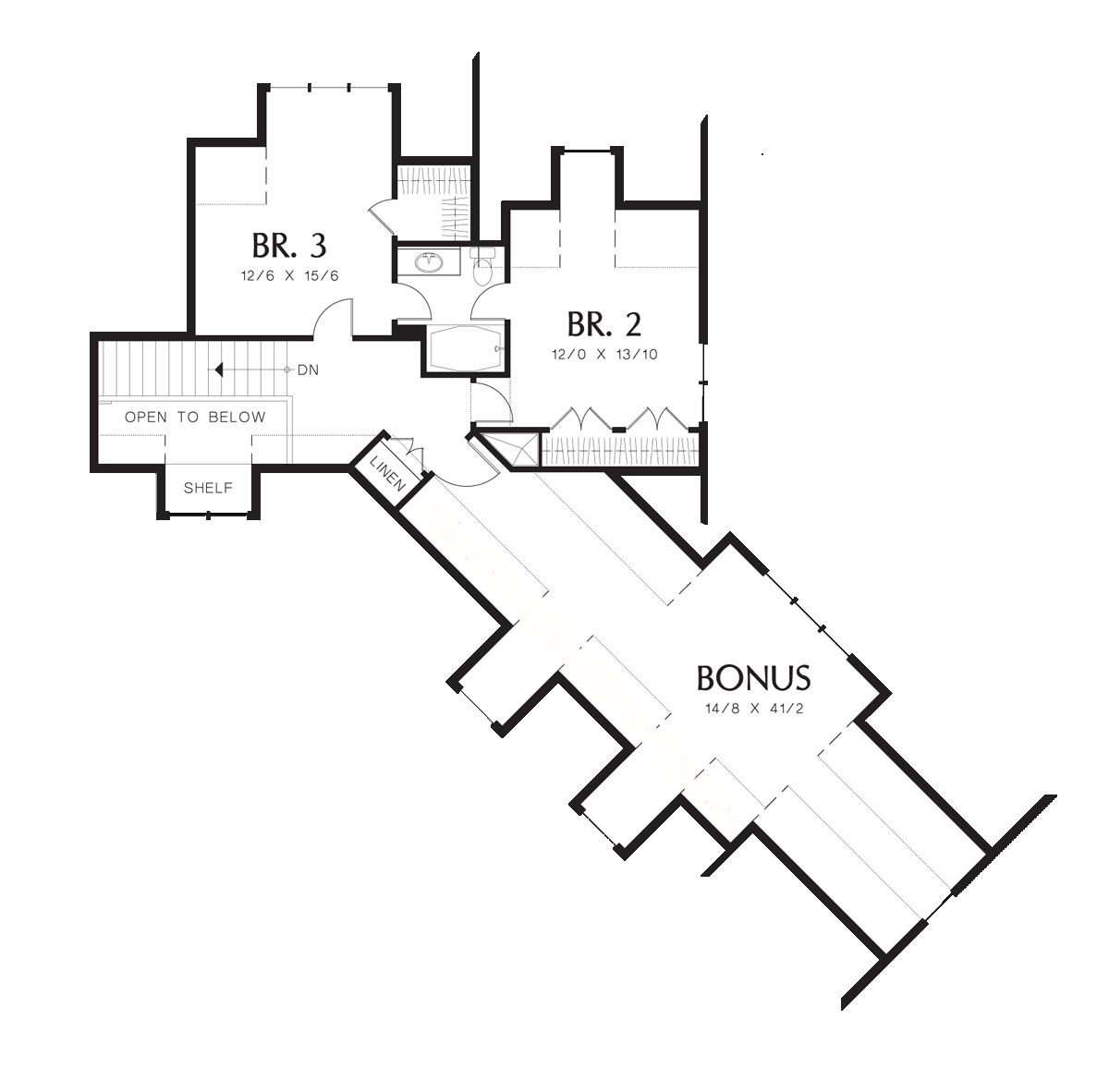 Craftsman House Plan With 3 Bedrooms And 2 5 Baths