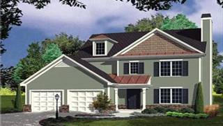Colonial Style House Plans   One or Two Story Colonial House Plans Colonial Style Home Plans by DFD House Plans