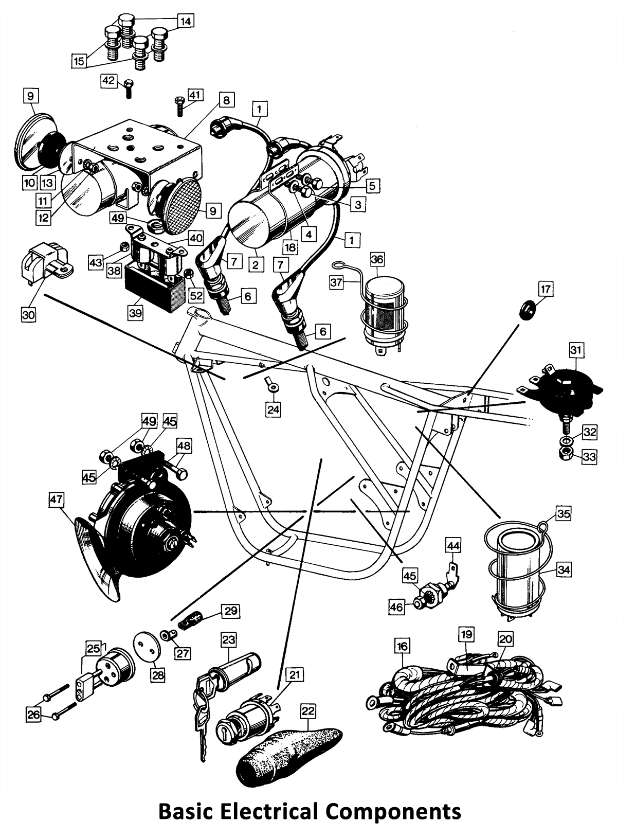 74 Norton Commando Basic Electrical Components