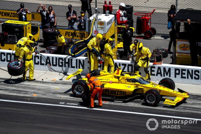 McLaughlin's speed on pitlane cost him a strong finish on his Indy 500 debut that would have put the rookie title out of Grosjean's reach