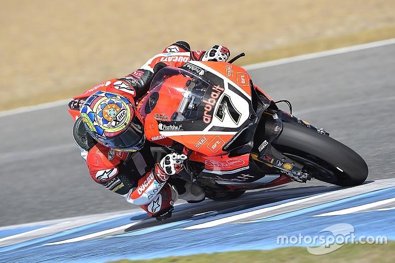 Ducati: nei test SBK di Aragon Davies vola e Melandri sorprende