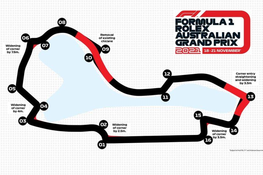 Australian GP map