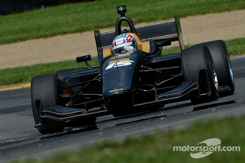 Indycar racer Tristan Vautier developing the new Dallara IL15 racer in August.