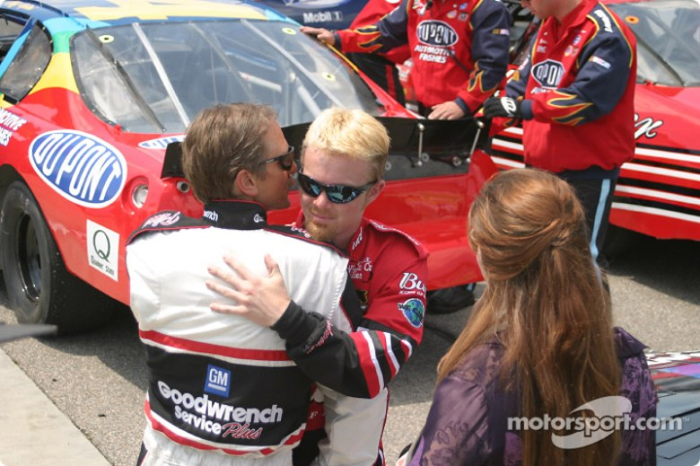 Barry Pepper as Dale Earnhardt, Chad McCumbee as Dale Earnhardt Jr., and Elizabeth Mitchell as ...