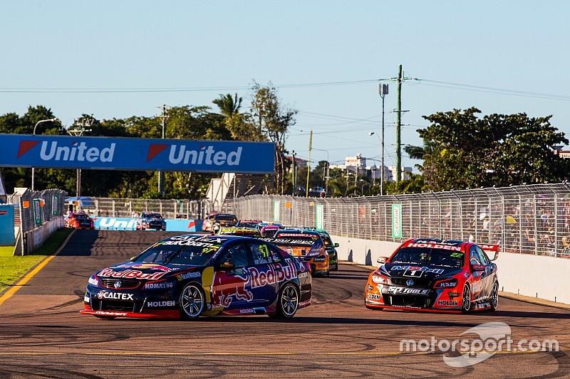 Townsville Supercars: Van Gisbergen holds on for Sunday win