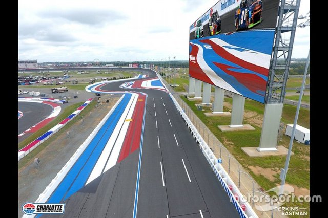 Charlotte Motor Speedway Back Straight Chicane Diagram