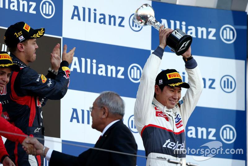 Derde plaats Kamui Kobayashi, Sauber