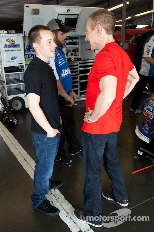 Mark Martin, Michael Waltrip Racing Toyota with son Matt ...