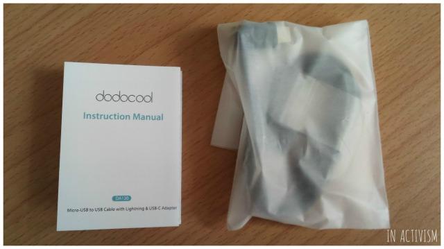 dodocool MFi認定 3in1 変換ケーブル同梱内容