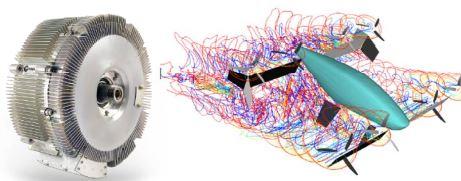モーターとCFDのイメージ