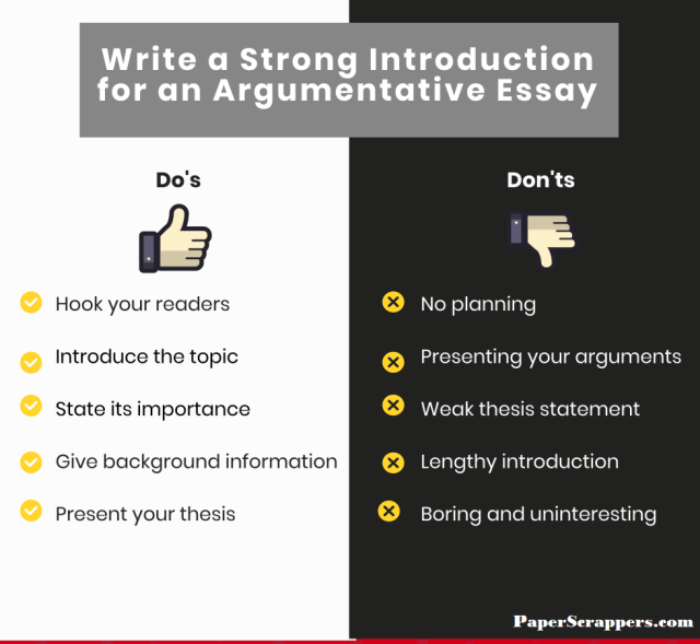 How To Write Introduction For An Argumentative Essay Tips & Tricks