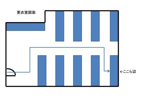 ロッカールーム図面
