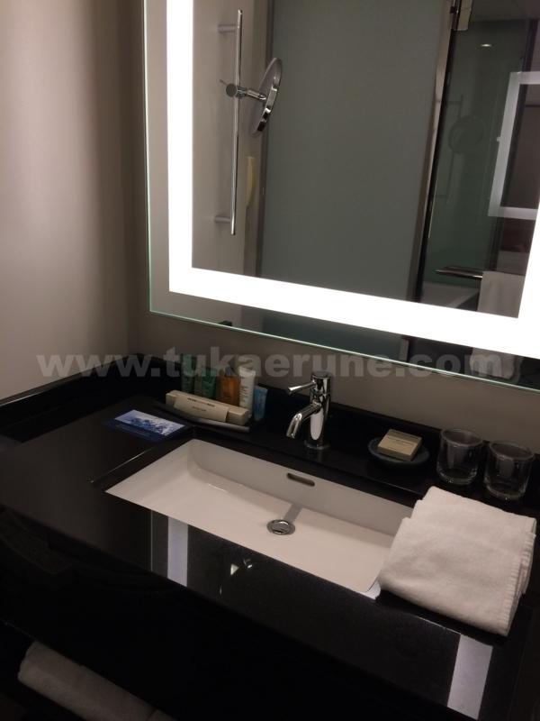 ヒルトン東京のバスルームと洗面