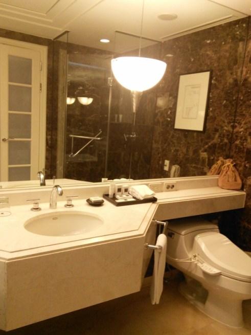 JWマリオットホテル・ソウルの客室バスルーム