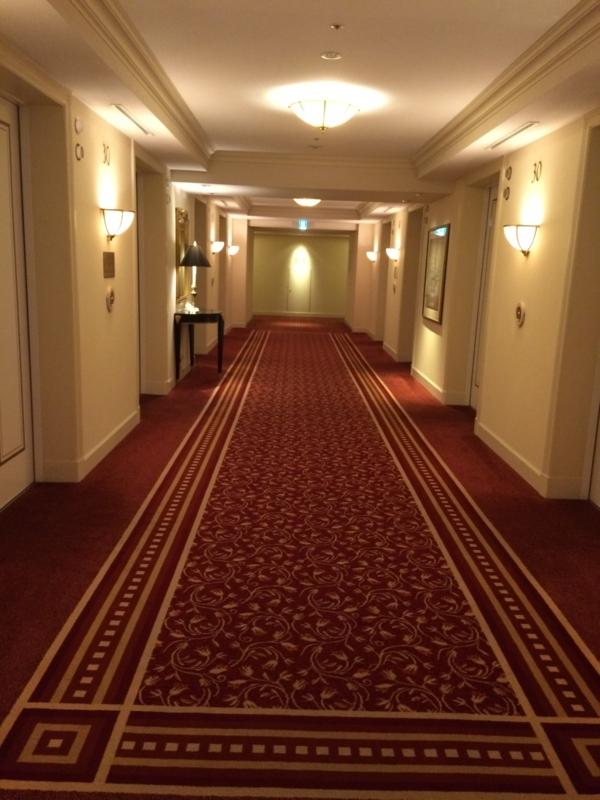 名古屋マリオットホテルのエグゼクティブフロア階のエレベーター①