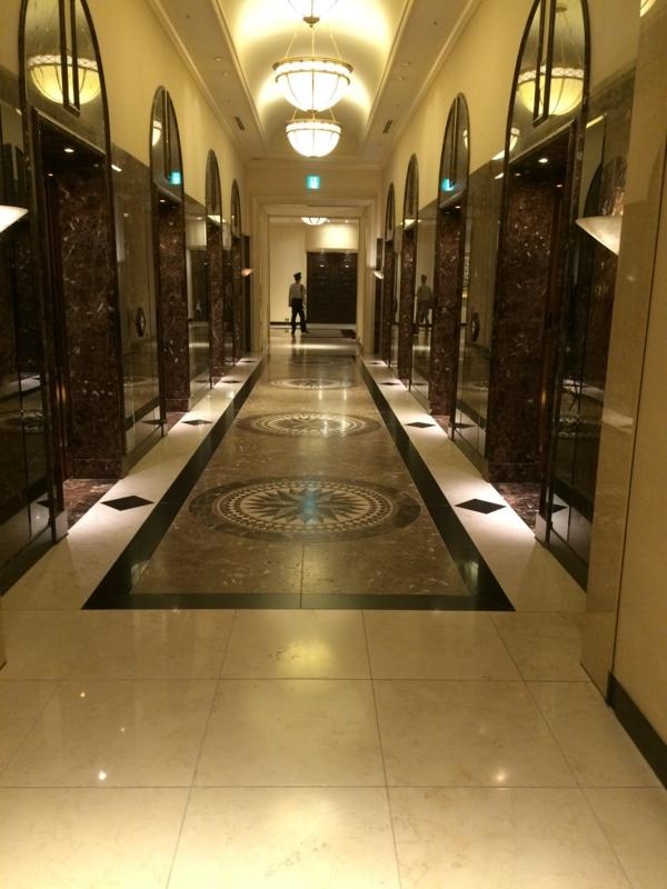 名古屋マリオットホテルのエグゼクティブフロアに向かうエレベーター