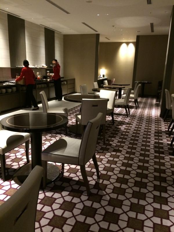 東京マリオットホテルのエグゼクティブ・ラウンジ