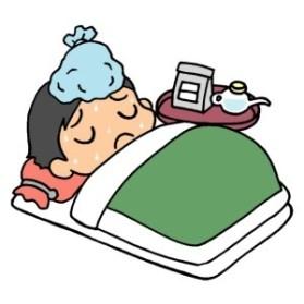 インフルエンザを治療中の人