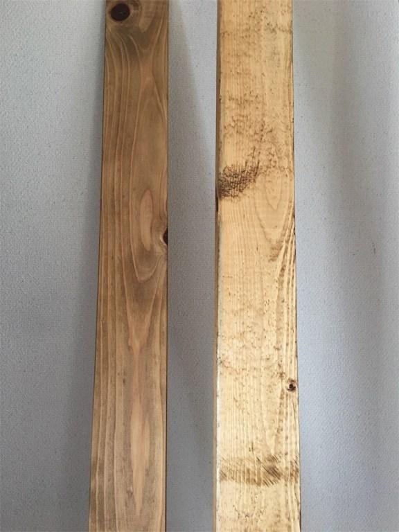 杉材とホワイトウッドにワトコオイルを塗ってみた