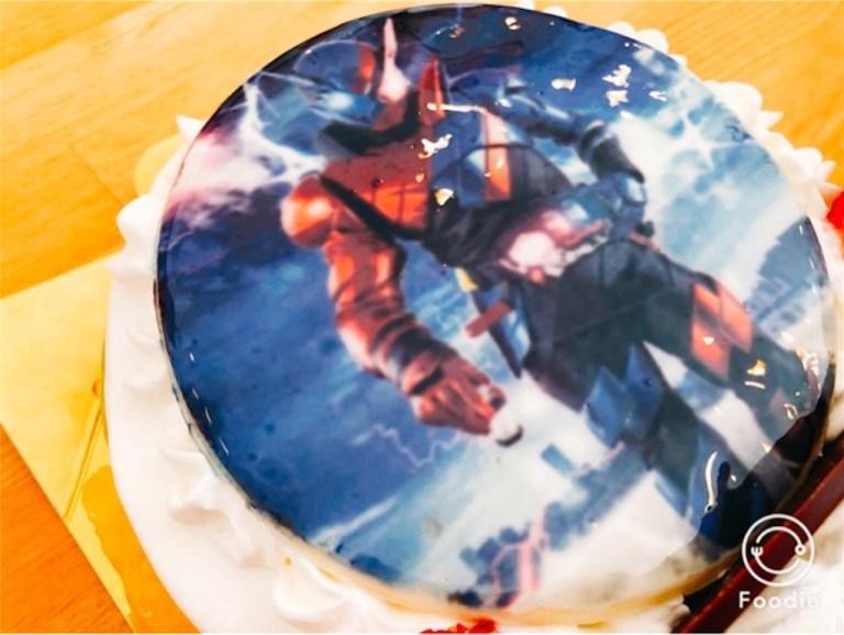 サンオノフレのキャラクター入りデコレーションケーキ